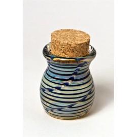 Blue pyrex stash jar