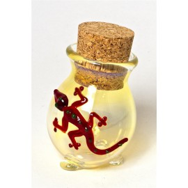 Lizard pyrex stash jar