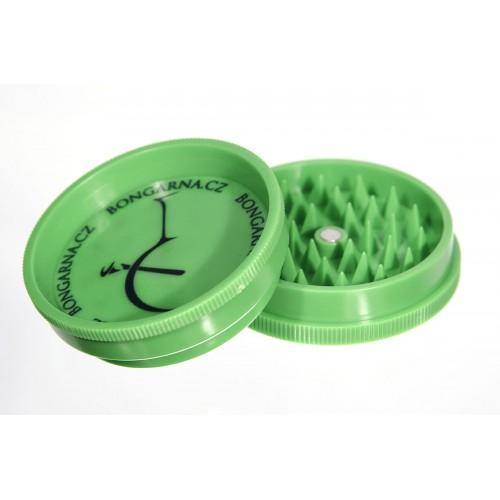 Zelená plastová drtička s magnetem